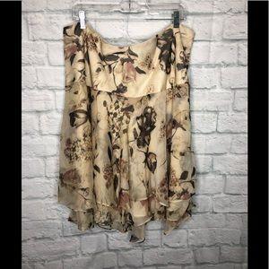 Ralph Lauren Woman Layered Asymmetrical Skirt 20W
